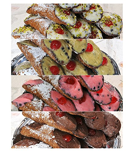 6 Sicilian Cannoli with Pure Sheep's Milk Ricotta - Assorted fillings - 24h Shipping from Italy