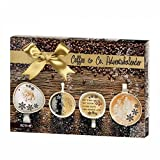 Sigro Coffee & Co Advent Calendar with Coffee Biscuits, Cappuccinos, Aroma Sticks, 50 x 4 x 35 cm