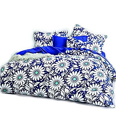 Blue Daisy Single/Double/King/Superking Size Duvet Cover Bedding Sets - cheap UK light store.