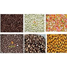 Leeve Dry Fruits Dark, White, Butterscotch Nuts, Twins, Rainbow Vermicelli and Chocolate Strands Combo, 200g (Pack of 6)