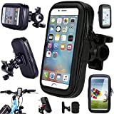 Waterproof Bicycle Handle Bar Mount Cycling Case 360 Rotating Motorcycle GPS Holder For iPhone 5SE Iphone 5S ,iPhone 5 iPhone 4 and fit for Smartphones