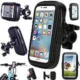 Fixation de barre de poignée de vélo imperméable Cyclisme Coque Rotatif à 360° pour moto support GPS pour iPhone 5se iPhone 5S, iPhone 5iPhone 4et s'adaptent pour smartphones