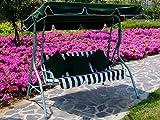 Loywe Hollywoodschaukel Gartenschaukel 3-Sitzer Modell LW12