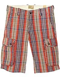 Gant Hommes Shorts Rouge-Multicolore 21069-637