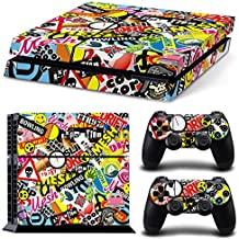 46 North Design Ps4 Playstation 4 Pegatinas De La Consola Graffiti + 2 Pegatinas Del Controlador