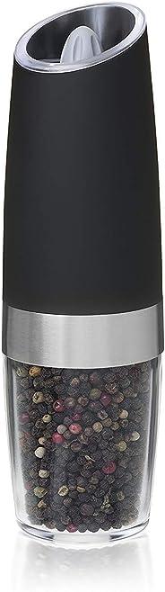 Gravity Electric Pepper Grinder Automatic Salt Grinder, Adjustable Grind Coarseness with LED Light Battery Powered Pepper Mil