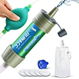 RUNACC - Filtro Acqua Mini Portatile Outdoor Purificatore Acqua Filtri 2000L per Escursionismo, Campeggio, Viaggi, Sport all'