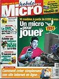 Micro hebdo - n°34 - 10/12/1998 - Un micro pour jouer