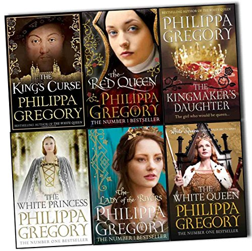 Philippa Gregory Cousins War 6 Books Collection Pack Set (The King's Curse-Hardback, The Kingmaker's Daughter, The White Princess, The Lady of the Rivers, The Red Queen, The White Queen)