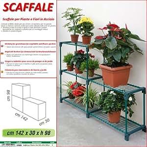 Betty garden scaffale new per piante e fiori in acciaio - Porta piante fai da te ...