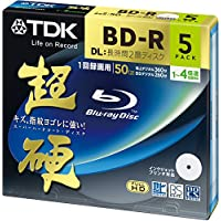 TDK Blu-ray BD-R DL Disk | Super Hard Coating Surface 50GB Blueray 4x Speed 5 Pack (japan import)