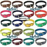 bio-leine Hundehalsband Personalisiert aus Biothane – mit Name und Telefonnummer – Halsband für Kleine und große Hunde, in Vielen Größen und Farben