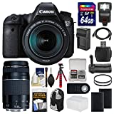 #10: Canon EOS 6D Digital SLR Camera Body + EF 24-105mm IS STM & 75-300mm III Lens + 64GB Card + Backpack + Flash + Batteries/Charger + Grip + Tripod Kit
