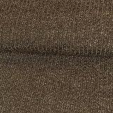 Strickstoff Meliert Braun Einfarbig Uni Strickjersey Modestoffe Strick melangeeffekt - Preis Gilt für 0,5 Meter