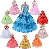 Asiv 10 Pack Hochzeit Kleidung Kleider Set Für Barbie Puppen Dolls, für Weihnachten & Geburtstag Geschenk