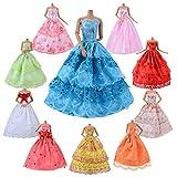 Die besten Kinder-Traum Party Kleider - ASIV 10er Pack Kleider & Kleidung für Barbie Bewertungen