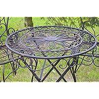 Table ronde fer forge voir aussi les articles sans stock jardin - Amazon mesas de jardin ...