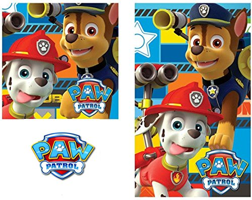 2 tgl Handtuch Set - Nickelodeon Paw PAtrol - Handtuch/Gesichtstuch und Waschlappen