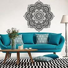 K-youth® Nueva Mandala patrón de Pegatinas de pared Pegatinas Pared de Habitación Decoración de Sala de Estar (Negro B)