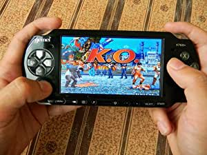"Gemei X760 + LE 4.3 ""Console portable du jeu MP4 TV-out 4 Go Black par Koolertron"