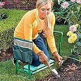 Sunnyushine Klappbarer Gartenhocker Garten Sitzhilfe Klappbare Gartenmatratze Und Sitzkissen Mit Kleiner Stofftasche für Gartenfreunde(Stil: A: Seitentasche; B: Hocker; C: Hocker + Seitentasche)