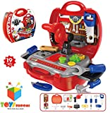 #9: Toys Bhoomi Kids Bring Along Junior Builder Tools Suitcase - 19pcs Set