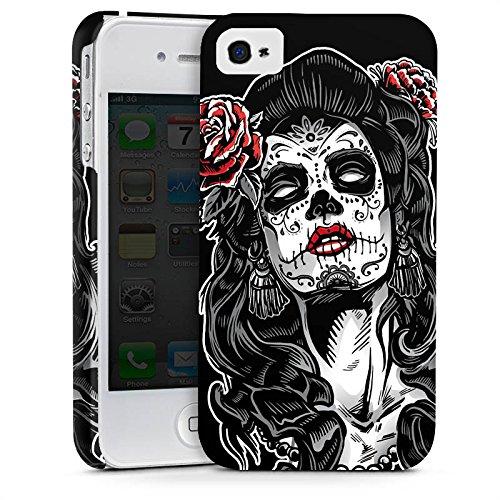 Apple iPhone X Silikon Hülle Case Schutzhülle Zombie Catrina Halloween Premium Case glänzend