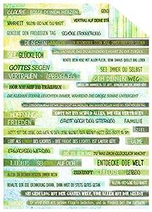 Ursus 11634602Cartulina Green Spirit, 300g/m², 10Hojas, DIN A4, Texto Verde