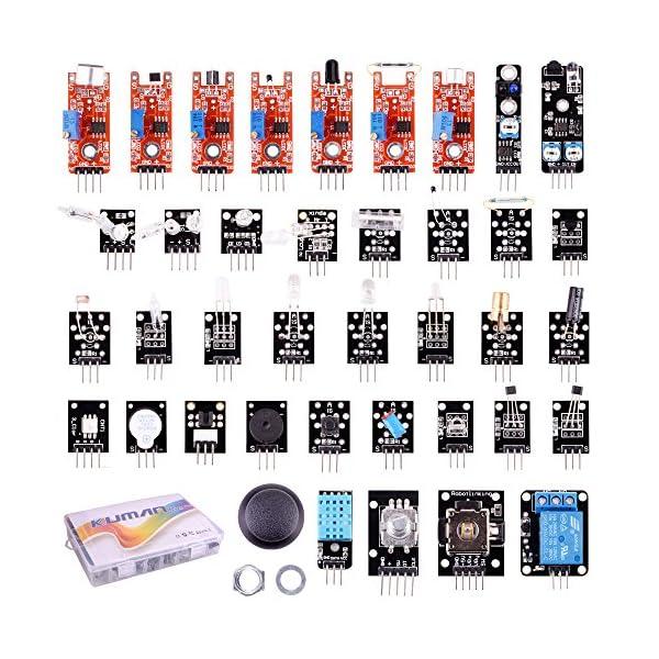 61O83kR%2BJHL. SS600  - Arduino Kit, Arduino Uno Raspberry Pi 3 Mega 2560 R3, 37 en 1 Módulo Sensor Proyectos para Arduino Starter Kit K5