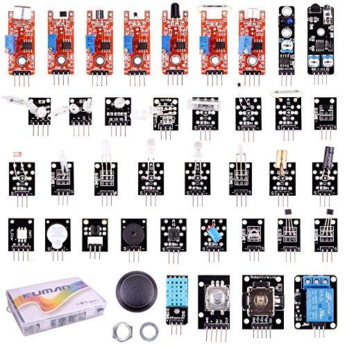 61O83kR%2BJHL - Kumán Completo 37 en 1 Módulo Sensor Proyectos para Starter Kit para Arduino Uno Raspberry Pi Mega 2560 K5