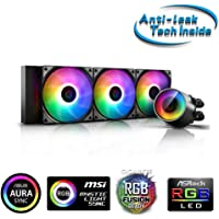 DEEPCOOL Castle 360 RGB V2 ARGB All-in-one Liquid CPU Cooler with Anti-Leak Tech Mirror Finish and immersive Ambient…