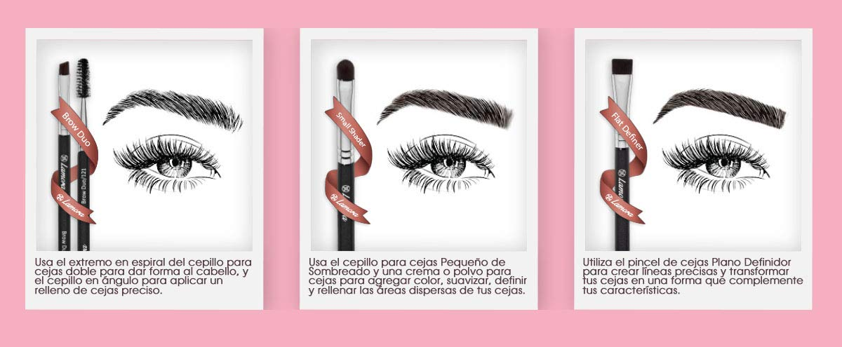 Pincel Cejas Set Brochas De Maquillaje Ojos – Pinceles Maquillaje Ojos – Fibras Veganas Sintéticas De Larga Duración