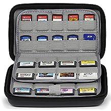 Sisma 72 Game Cards Hoesje Kaartenhouder voor 32 Nintendo 3DS 2DS DS Gamekaarten en 40 Switch PS Vita Gamekaarten - Zwart