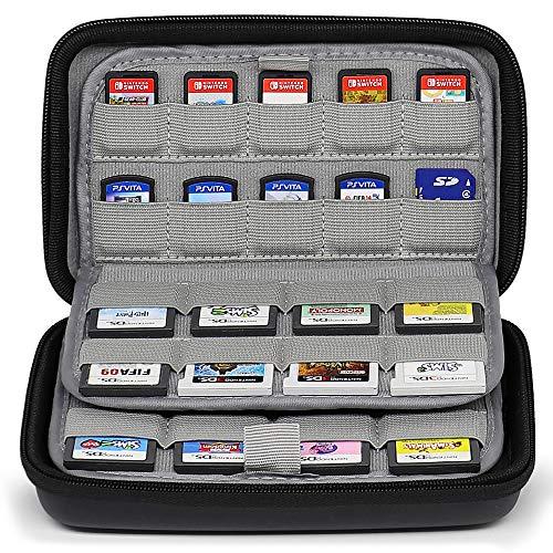 Sisma 72 Spiele Organizer Universaltasche für Spielkassetten der Nintendo Switch 3DS 2DS Sony Ps Vita und SD microSD Speicherkarten -schwarz SVG180901GC-B (Kleine Video Game Organizer)