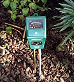 #6: BLAPOXE 3 in 1 Soil Tester Meter Garden Lawn Plant Pot Moisture Light PH Sensor Tool