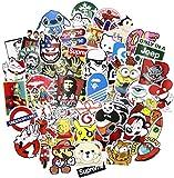 Sticker Pack [200pcs],Sanmatic Adesivi murali Adesivi per Laptop, Bambini, Auto, Moto, Biciclette, Skateboard Bagagli, Adesivi per paraurti Hippie Decalcomanie bomba Impermeabile