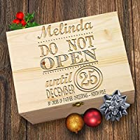 TWISTED ENVY Personalised Do Not Open Until Christmas Wooden Christmas Eve Box
