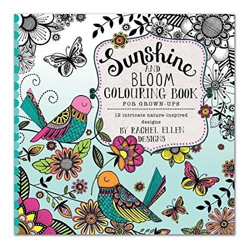 Rachel Ellen Design Rachel Ellen Erwachsenen-Malbuch-Sunshine & Bloom von -