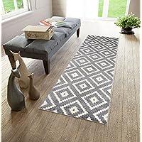 """Alfombra de pasillo a medida - moderna Alta calidad - Diseño marroqu alfombra de salón Colección """" CASABLANCA """" de Carpeto - 120 x 1000 cm - Crema Beige"""