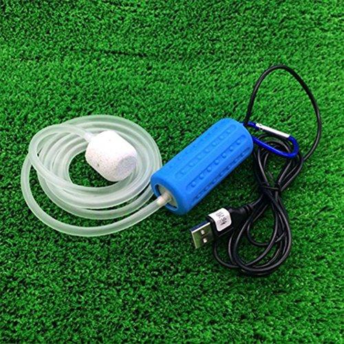 Zantec Portable Mini USB Aquarium Sauerstoff Luftpumpe Stumm Energieeinsparung Zubehör (Sauerstoff-tank)