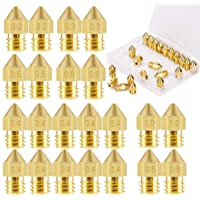 ELEPHANTBOAT® 22Pieces 3D Printer Extruder Nozzle MK8 for Makerbot Creality CR-10 7 Different Size 0.2 mm, 0.3 mm, 0.4…