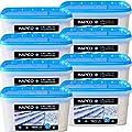 HAPCO 8er Set (8 x 5 kg) - Auftaumittel mit Langzeitwirkung - Schnee- und Eis weg - Auftaugranulat - Calciumchlorid Streugut Streusalz Auftaugranulat Auftausalz Tausalz Straßensalz - ABACUS