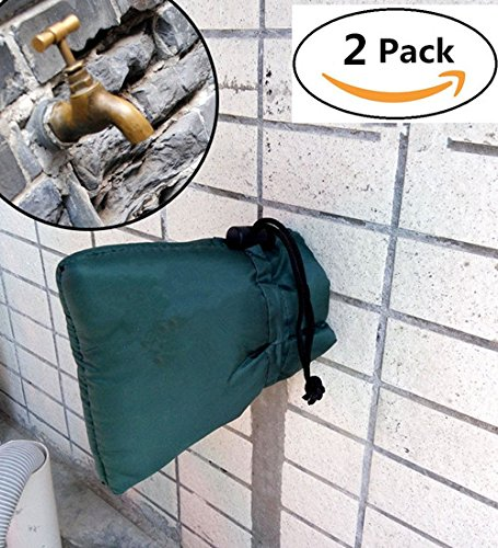Außenwasserhahn-Abdeckung zum Schutz Ihrer Garten-Wasserhähne vor Frost, 2 Stück (Schutz Bib)