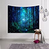 Galaxy Forest Star Tapestry Wall Hanging Space Galaxy NebulaTapestry Mandala Indian Tapestries Hippie Print Tapestry Decorative Tapestry Hippy Decor For Beach Throw Blanket Home Decor(HYC10) (3#)
