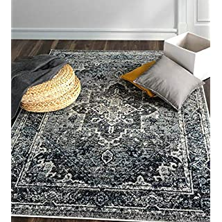 A2Z Rug Chelsea Z176 Traditional Vintage Grey Area Rugs 120x170 cm - 3'9