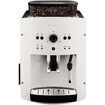 Krups EA8105 freestanding Fully-auto Espresso machine 1.6L 9cups White coffee maker - Coffee Makers (Freestanding, Espresso machine, 1.6 L, Built-in grinder, 1450 W, White)