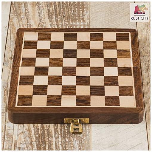 rusticity-Holz-faltbar-Magnetisches-Schach-Set-handgefertigt-178-cm