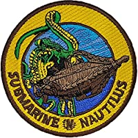 Twenty Thousand Leagues Under The Sea Submarine Nautilus Embroidered Badge Patch Sew-on or Iron-on 9cm