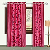 Dreaming Cotton Door Curtains 7ft Pink