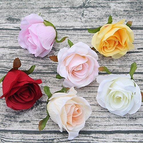 he rose blume party wand-dekor hochzeit Straße führte Bogen DIY dekoration seide rose scrapbooking Handwerk kranz 9 cm ()